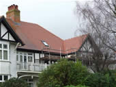 Complete re-roof of semi-detached house in Cardiff (Rosemary clay tiles)